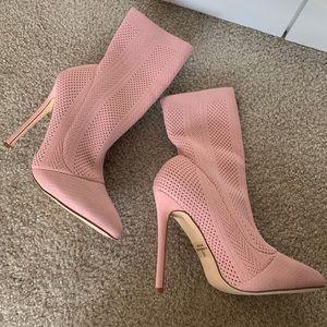 Pink sock heels